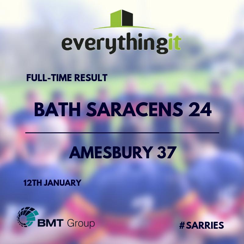 Bath Saracens 24 Amesbury 37