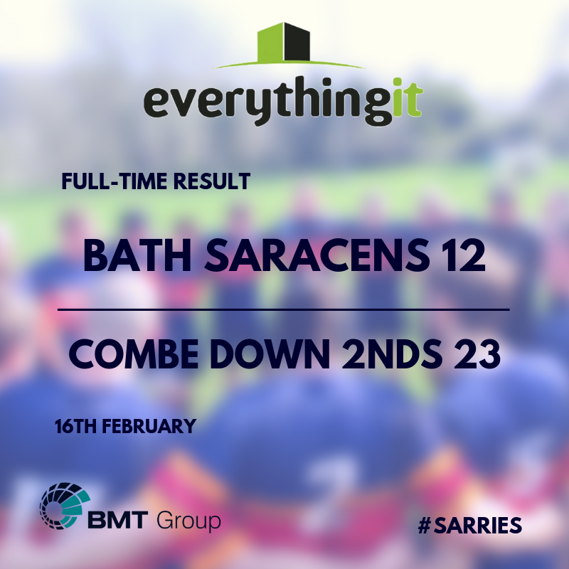 Bath Saracens 12 Combe Down 2nds 23 1