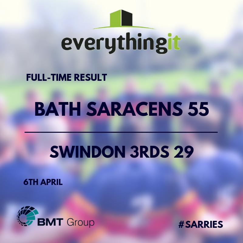 Bath Saracens 55 Swindon 3rds 29 1