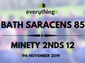 Bath Saracens 85 Minety 2nds 12